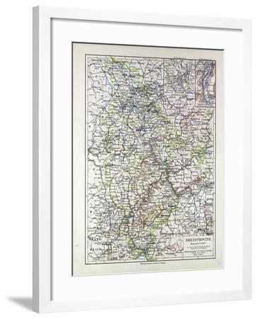 Map of the Rheinprovinz Germany 1899--Framed Giclee Print