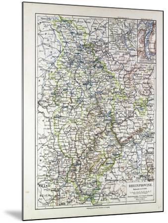 Map of the Rheinprovinz Germany 1899--Mounted Giclee Print