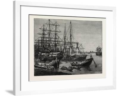 View of the Port of Calcutta, India--Framed Giclee Print
