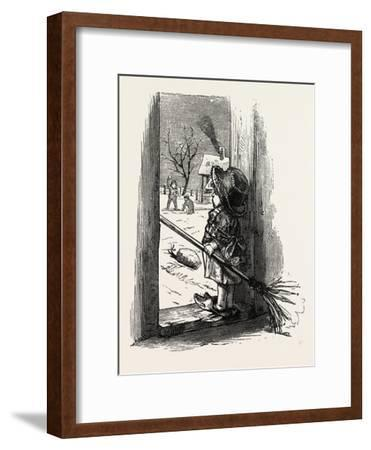 Cleaning the Doorstep, Child, 1882--Framed Giclee Print