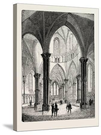 Interior of the Temple Church in London--Stretched Canvas Print