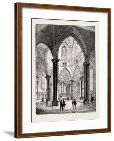 Interior of the Temple Church in London--Framed Giclee Print