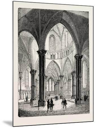 Interior of the Temple Church in London--Mounted Giclee Print