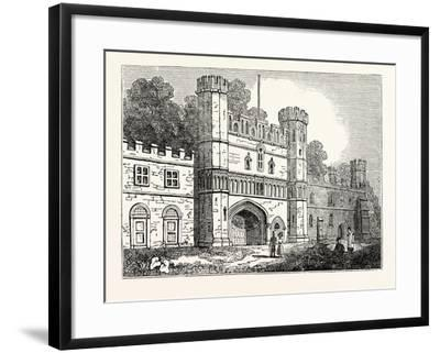 The Gateway at Battle Abbey Sussex--Framed Giclee Print