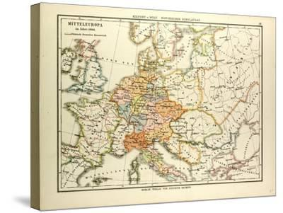 Map Of Central Europe In 1000 A D Giclee Print By Art Com