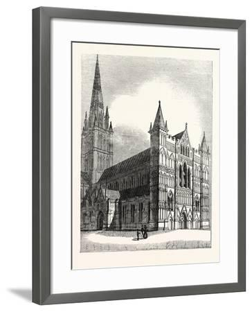 North-West View of Salisbury Cathedral--Framed Giclee Print
