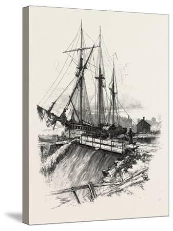 A Waste Weir, Canada, Nineteenth Century--Stretched Canvas Print