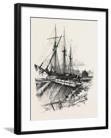 A Waste Weir, Canada, Nineteenth Century--Framed Giclee Print