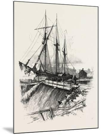 A Waste Weir, Canada, Nineteenth Century--Mounted Giclee Print