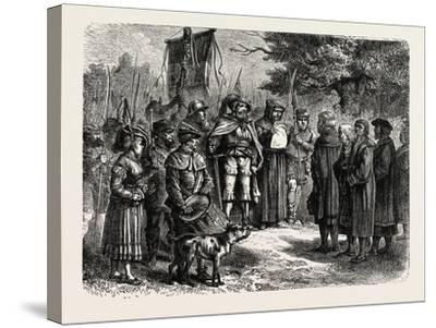 Reading an Ordinance of the Fehmgericht--Stretched Canvas Print
