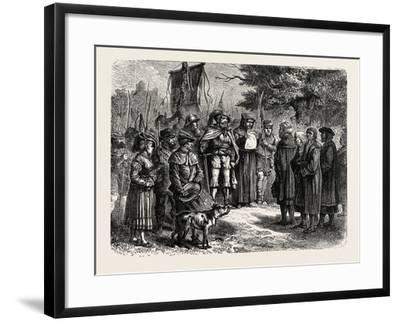 Reading an Ordinance of the Fehmgericht--Framed Giclee Print