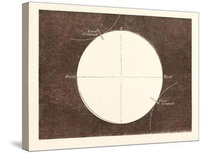 Eclipse of the Sun, March 15, 1858--Stretched Canvas Print