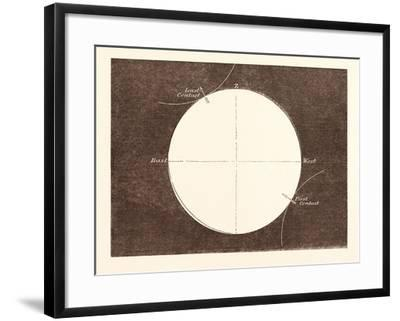 Eclipse of the Sun, March 15, 1858--Framed Giclee Print