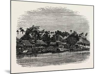 View on the Banks of the Mesap, Cambodia--Mounted Giclee Print