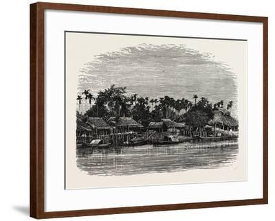 View on the Banks of the Mesap, Cambodia--Framed Giclee Print