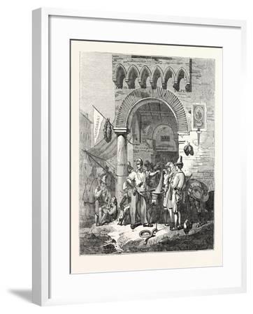 The Maccaroni Seller of Naples. Italy--Framed Giclee Print
