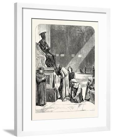 The Statue of St. Peter. Rome Italy--Framed Giclee Print