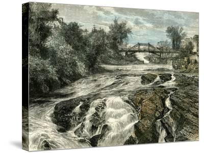 Falls of Lorette Canada, 19th Century--Stretched Canvas Print