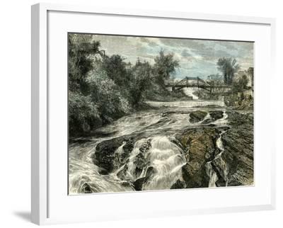 Falls of Lorette Canada, 19th Century--Framed Giclee Print