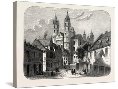The Cathedral at Worms Germany, 1882--Stretched Canvas Print