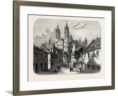 The Cathedral at Worms Germany, 1882--Framed Giclee Print