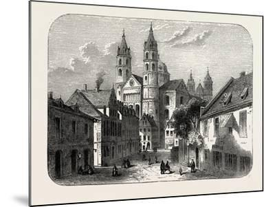 The Cathedral at Worms Germany, 1882--Mounted Giclee Print