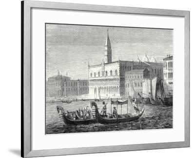 Arrival of Denis Papin in Venice--Framed Giclee Print