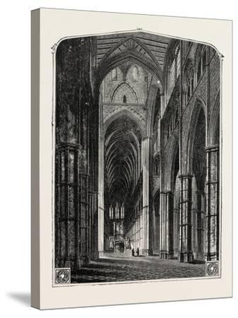 Westminster Abbey the Nave--Stretched Canvas Print
