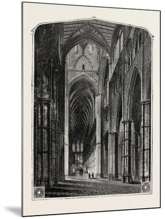 Westminster Abbey the Nave--Mounted Giclee Print