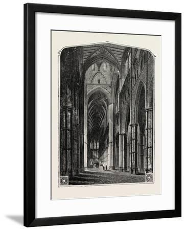 Westminster Abbey the Nave--Framed Giclee Print