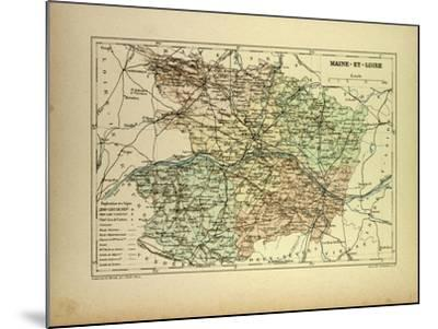 Map of Maine-Et-Loire France--Mounted Giclee Print