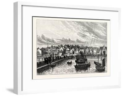 Edinburgh: Newhaven from the Pier--Framed Giclee Print