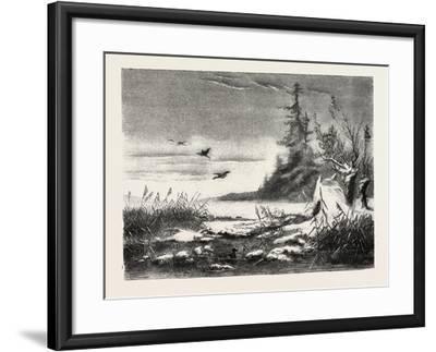 Ambush for Duck Shooting, 1882--Framed Giclee Print