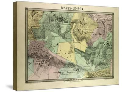 Map of Marly-Le-Roy, France--Stretched Canvas Print