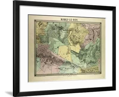 Map of Marly-Le-Roy, France--Framed Giclee Print