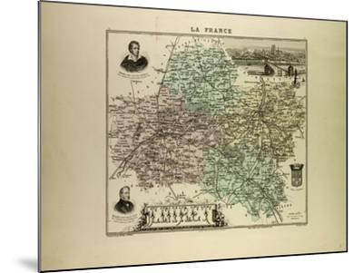 Map of Loiret 1896, France--Mounted Giclee Print
