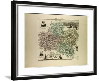 Map of Loiret 1896, France--Framed Giclee Print
