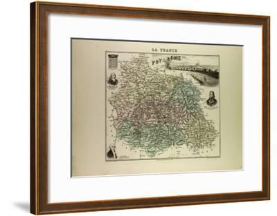 Map of Puy De Dôme 1896, France--Framed Giclee Print
