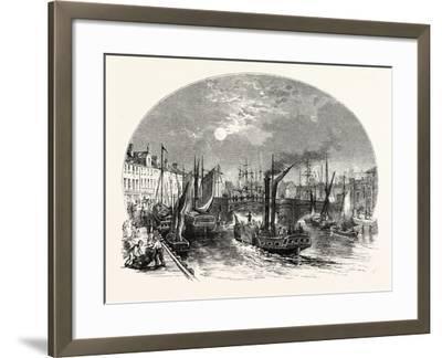 Edinburgh: Leith Harbour 1829--Framed Giclee Print