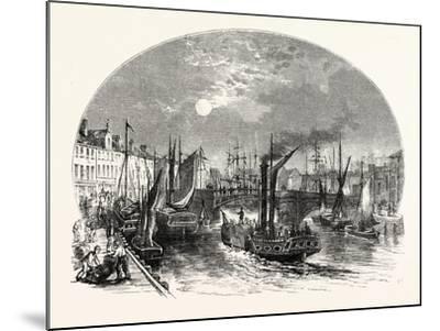 Edinburgh: Leith Harbour 1829--Mounted Giclee Print