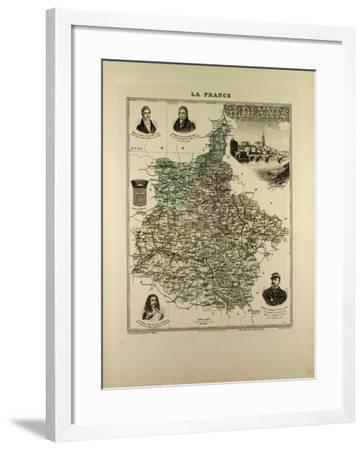 Map of Ardennes 1896 France--Framed Giclee Print