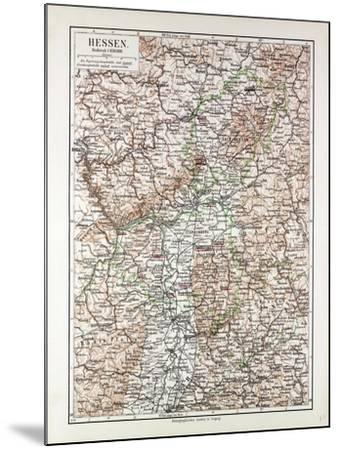 Map of Hessen Germany 1899--Mounted Giclee Print