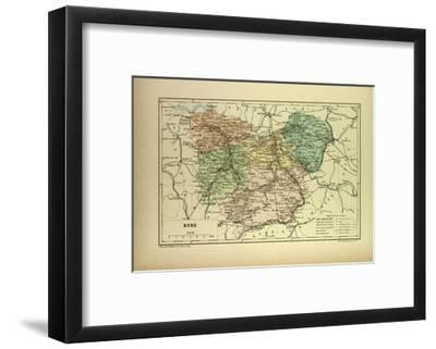 Map of Eure France--Framed Giclee Print
