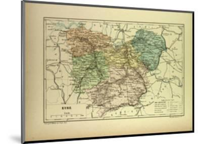 Map of Eure France--Mounted Giclee Print