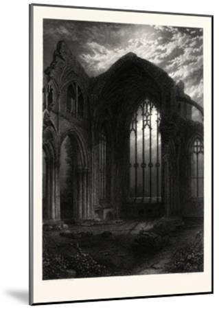 Melrose Abbey, UK--Mounted Giclee Print