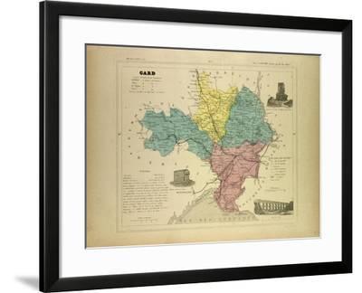 Map of Gard France--Framed Giclee Print