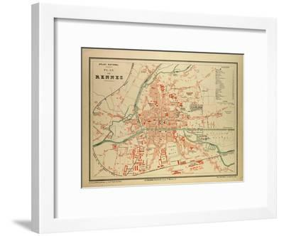 Map Of Rennes France Giclee Print By Art Com