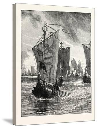 Anlaff Entering the Humber--Stretched Canvas Print