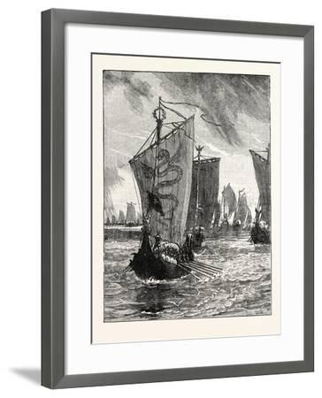 Anlaff Entering the Humber--Framed Giclee Print