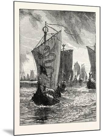 Anlaff Entering the Humber--Mounted Giclee Print